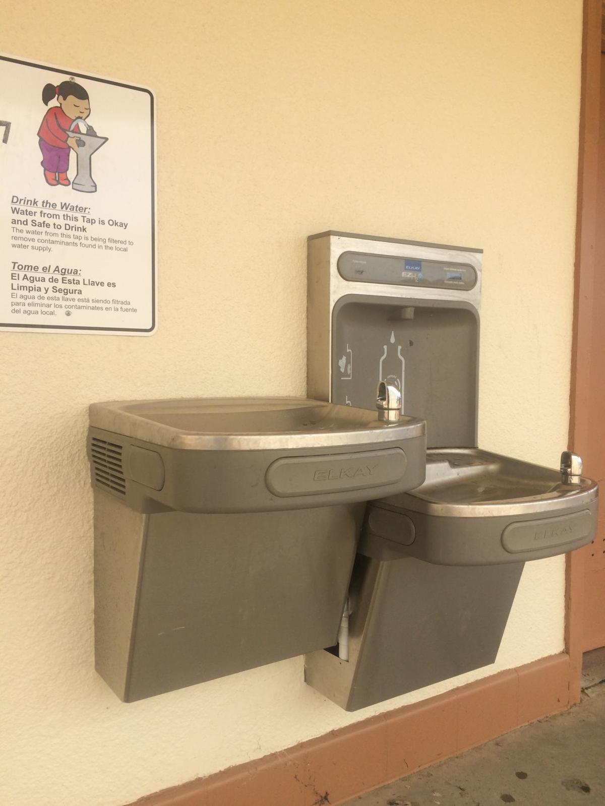 avenal school water fountain
