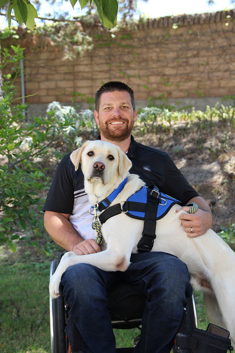 US Navy Veteran Receives Service Dog to Enhance Independence