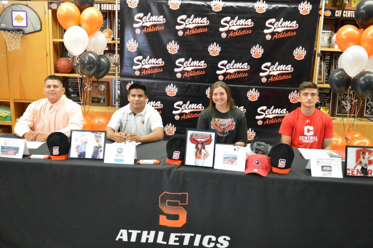 Selma athletes sign to colleges