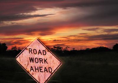 xyz road work sign