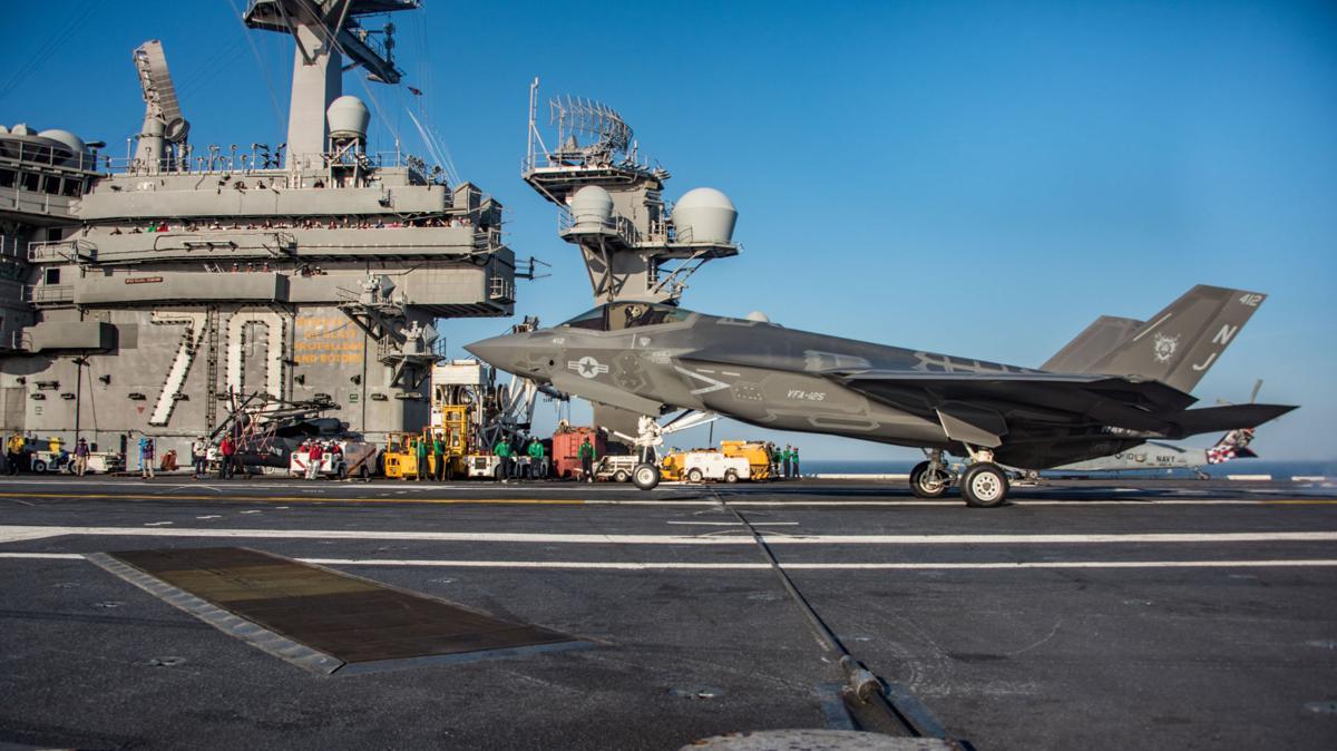USS Carl Vinson conducts F-35C flight operations