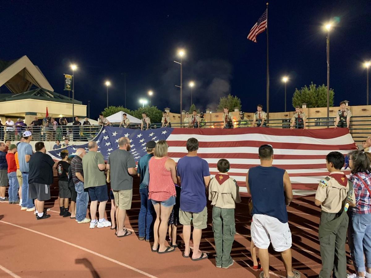 Pelco Memorial Flag retired before Independence Day Celebration