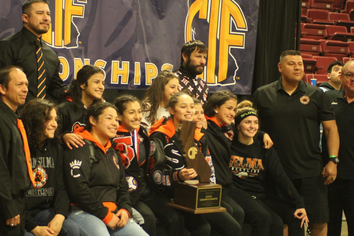 Selma girls wrestling: team wins 3rd state title
