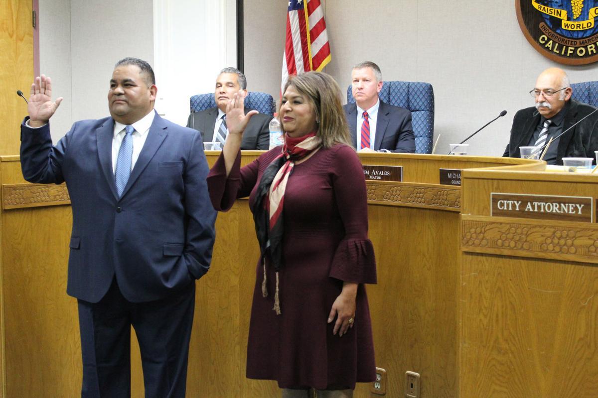 Council swears: Trujillo and Guerra
