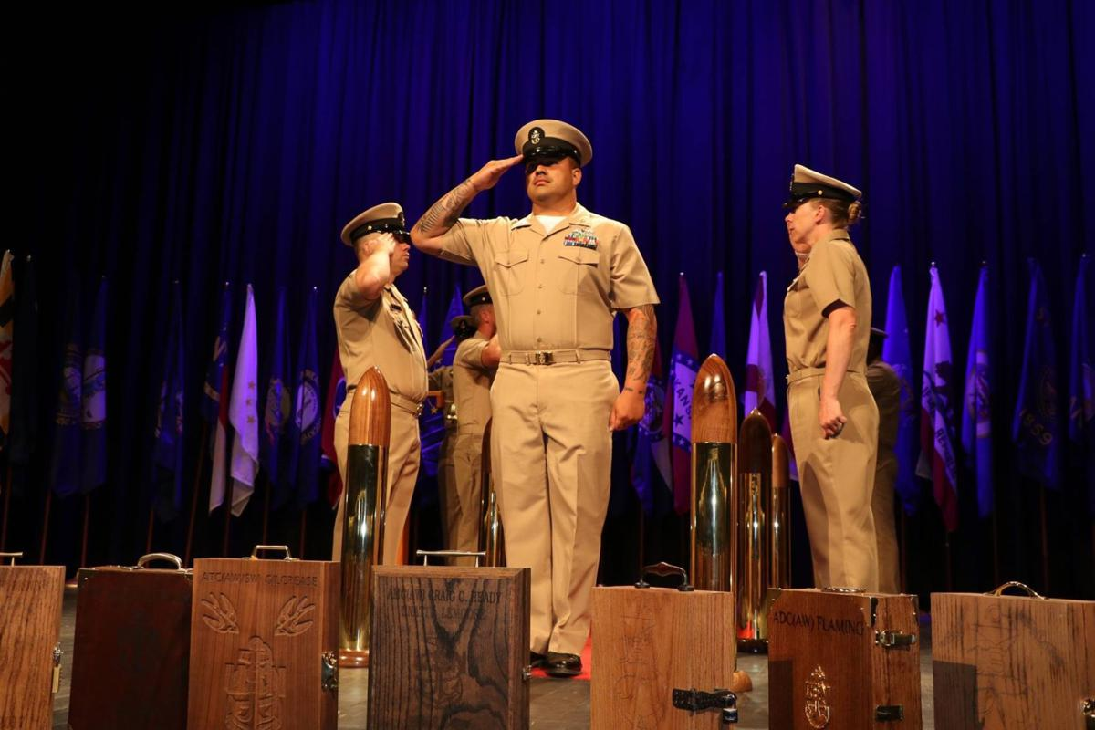Hail to the chief: Pinning ceremony welcomes Navy's newest