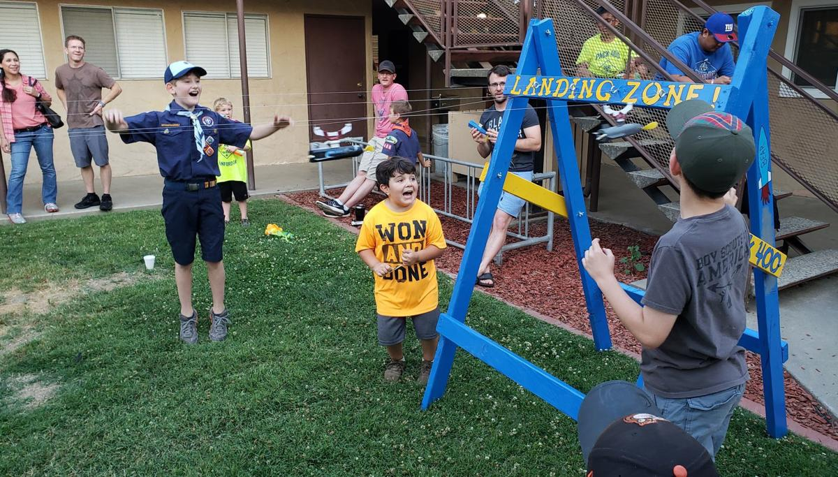 Cub Scouts cheer