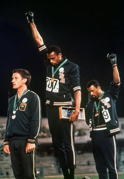 Lemoore natives Tommie and Dr. Ernie Smith recall iconic 1968 Olympic image