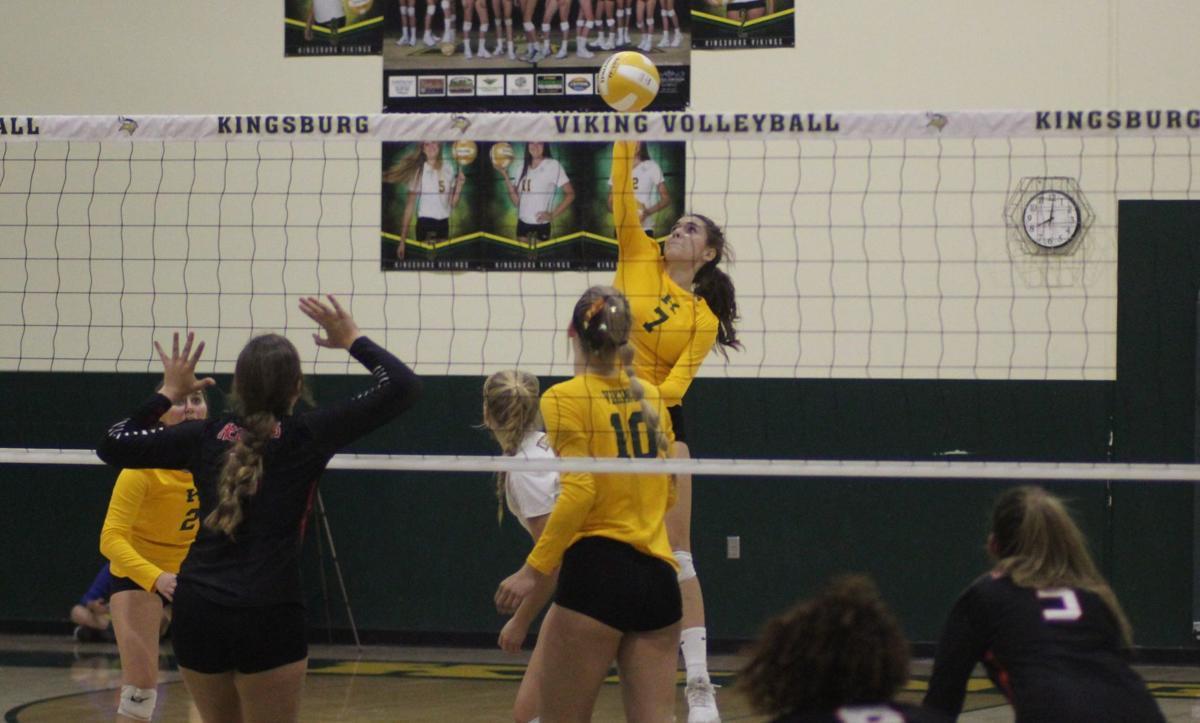 Kingsburg volleyball vs Fowler: Jennah Torres