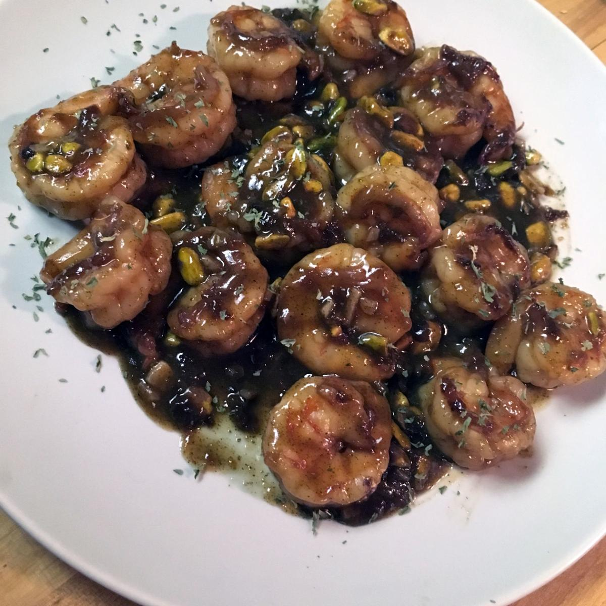 Honey-Garlic Green Tea Shrimp