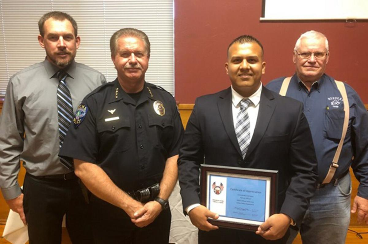 Elks: Selma officer honored