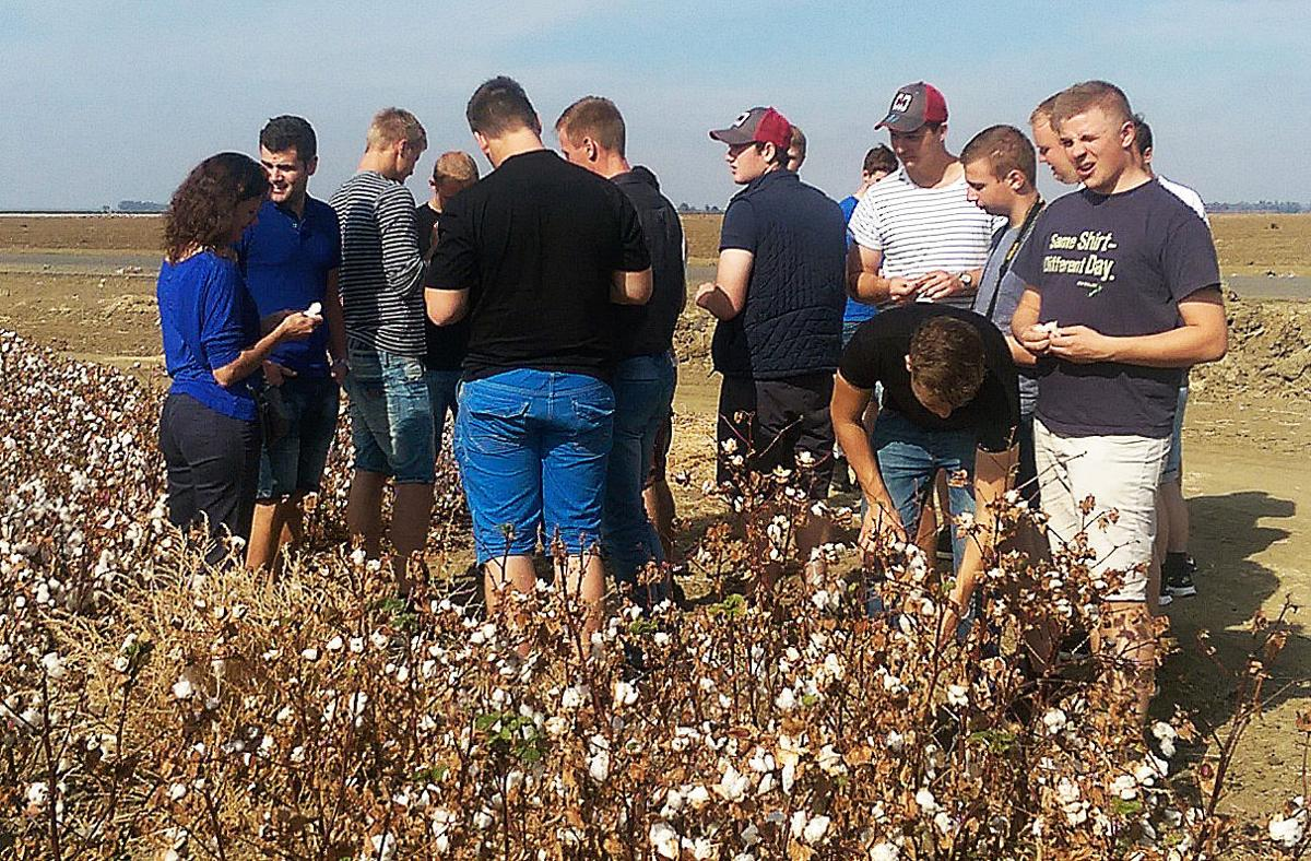 Danish students tour Valley farms in Lemoore
