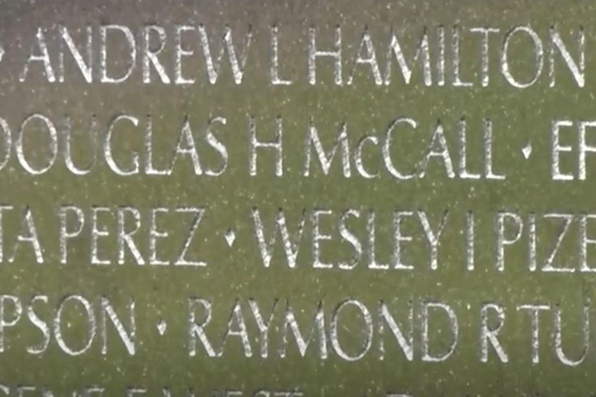 PBS: Veterans' names
