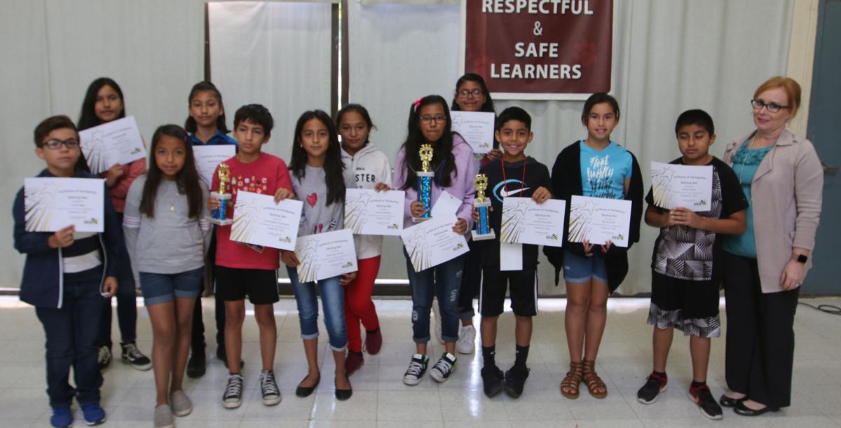 Spelling bee: Fifth graders