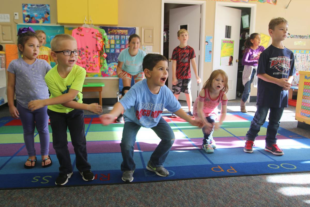 Concert: Children rehearse