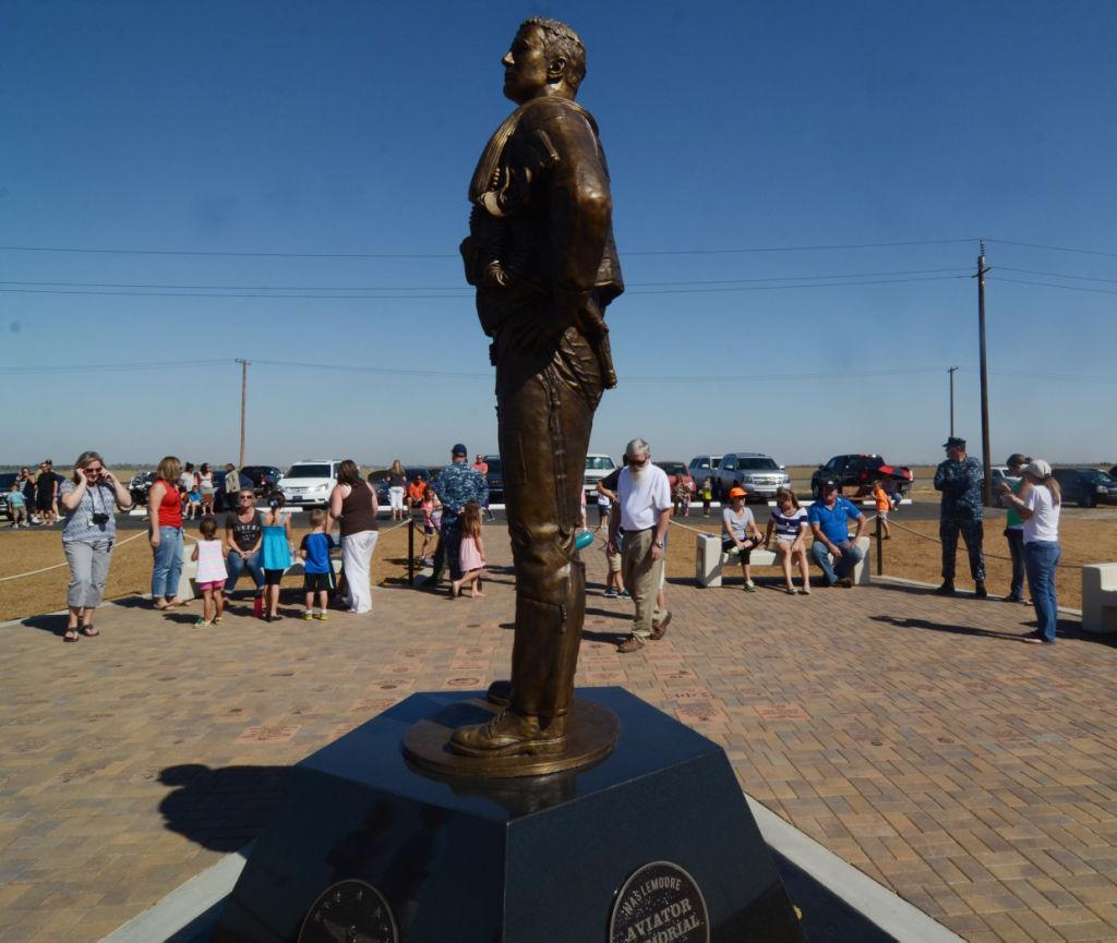Blue Angels fly over aviator memorial