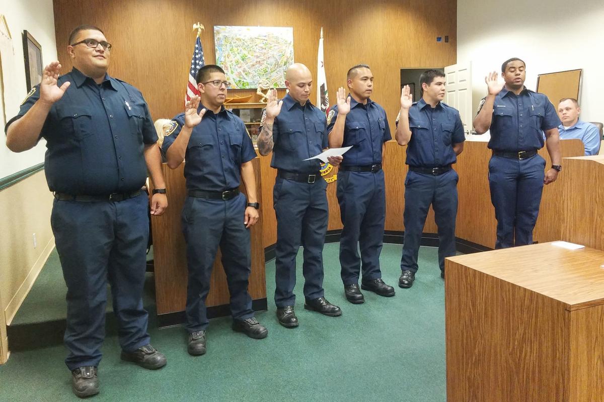 Firefighters: Sworn in