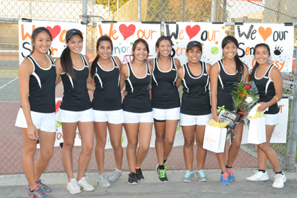Lady Bears tennis wins first CSL title since 1977