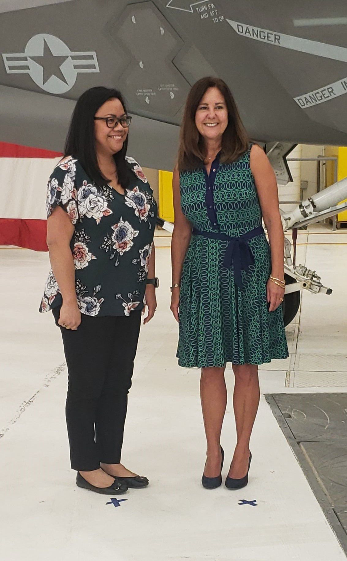 Second Lady Karen Pence speaks to military spouses at NAS Lemoore