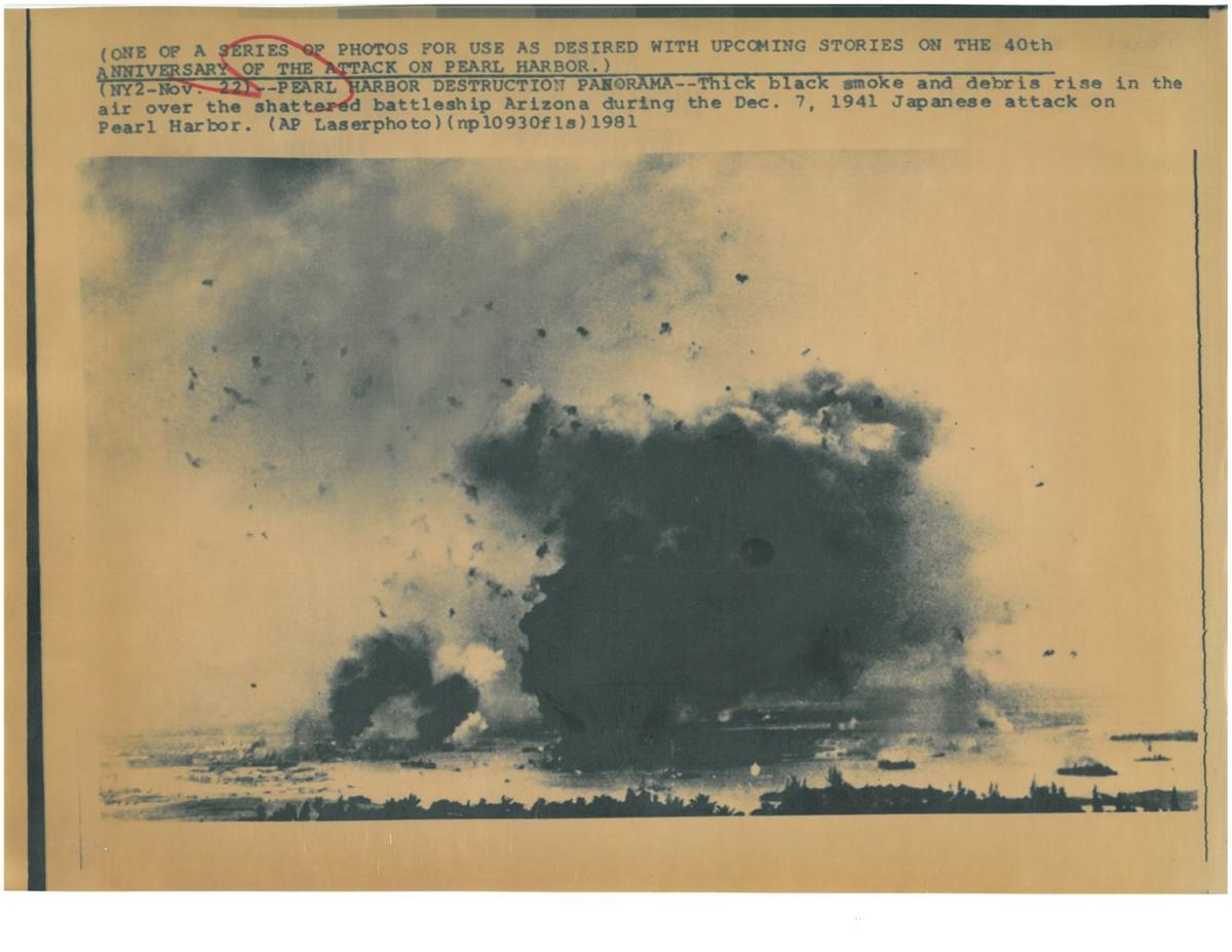 USS Arizona under attack