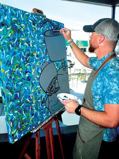 5 3 Art Att 2 Raney paints at Deli.jpg