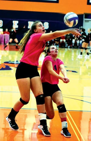 11 1 Sports 2 Bee volley Haylee and Lily.jpg