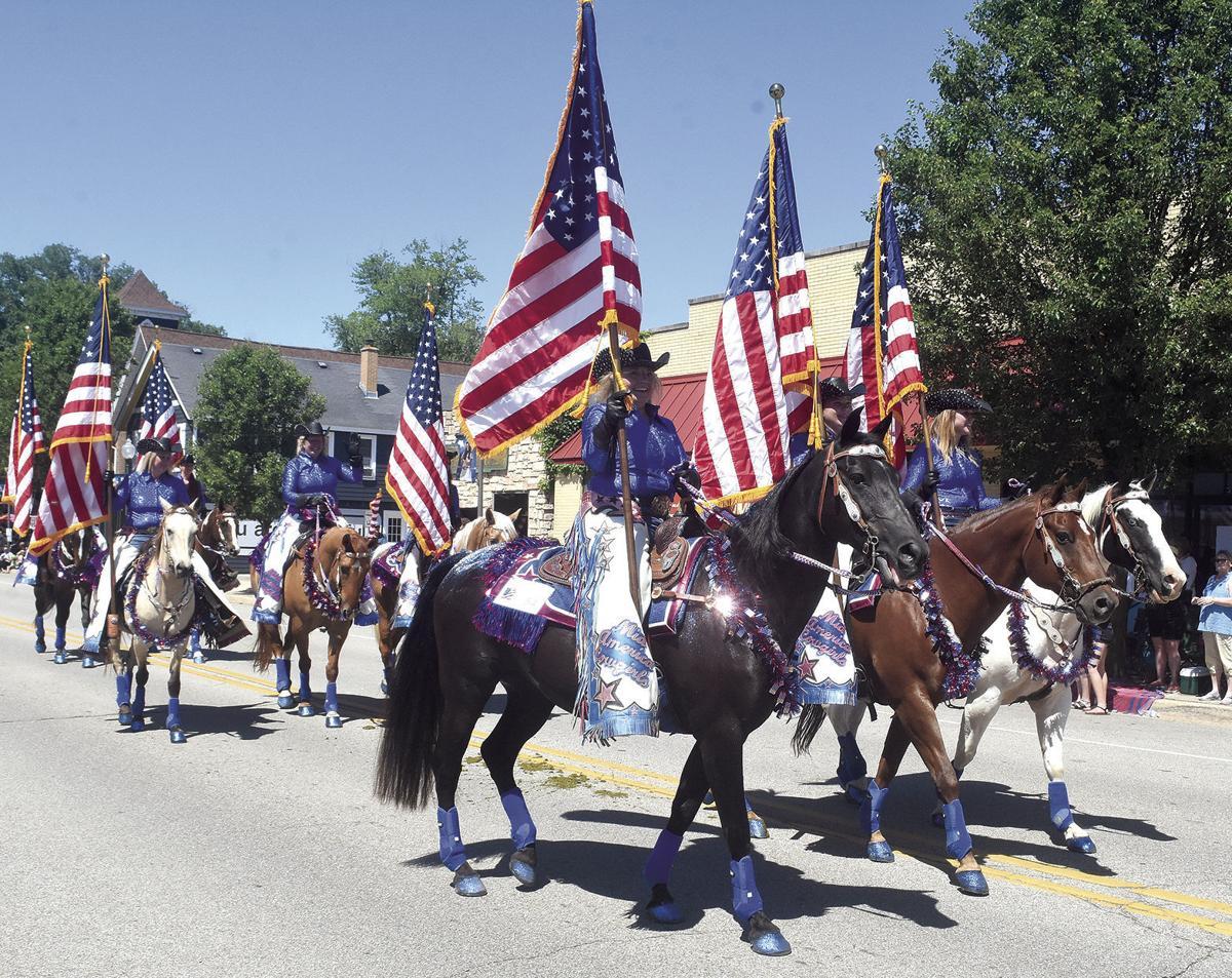 6 17 Flag Day Parade 1 Mid America Cowgirls.jpg