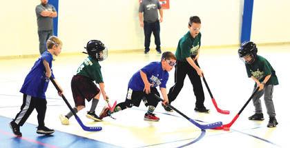 1 24 Floor Hockey 2 Minors Ducks Rangers group.jpg