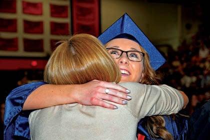 Graduation Embrace