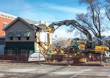 Hopes rise for 'something good' to go up in downtown New Buffalo demolition zone