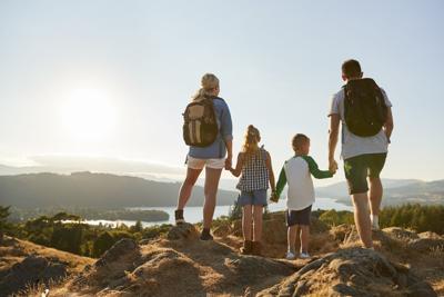 Family in National Park
