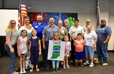 8-14 A Blackford County family among those who were honored at the Indiana State fair for their farm management_WEB.jpg
