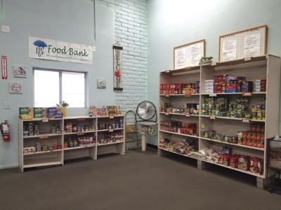 Shelves filling up at food bank