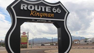 Route 66 photo drive-thru