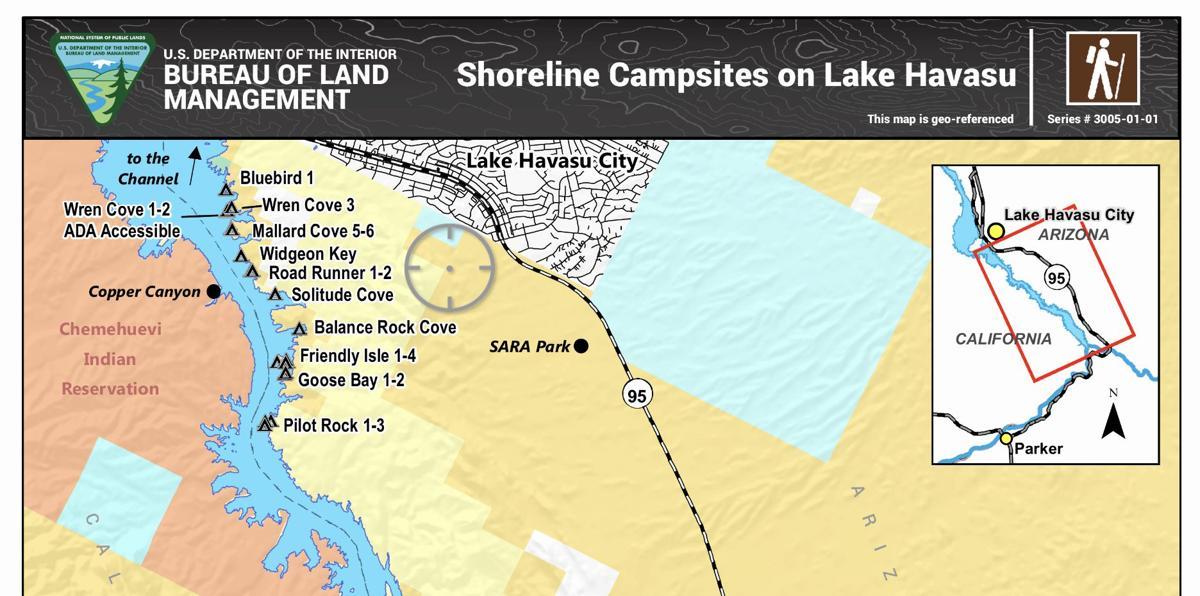 Shoreline campsites