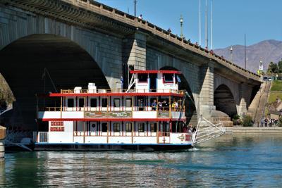 Dixie Belle under the bridge