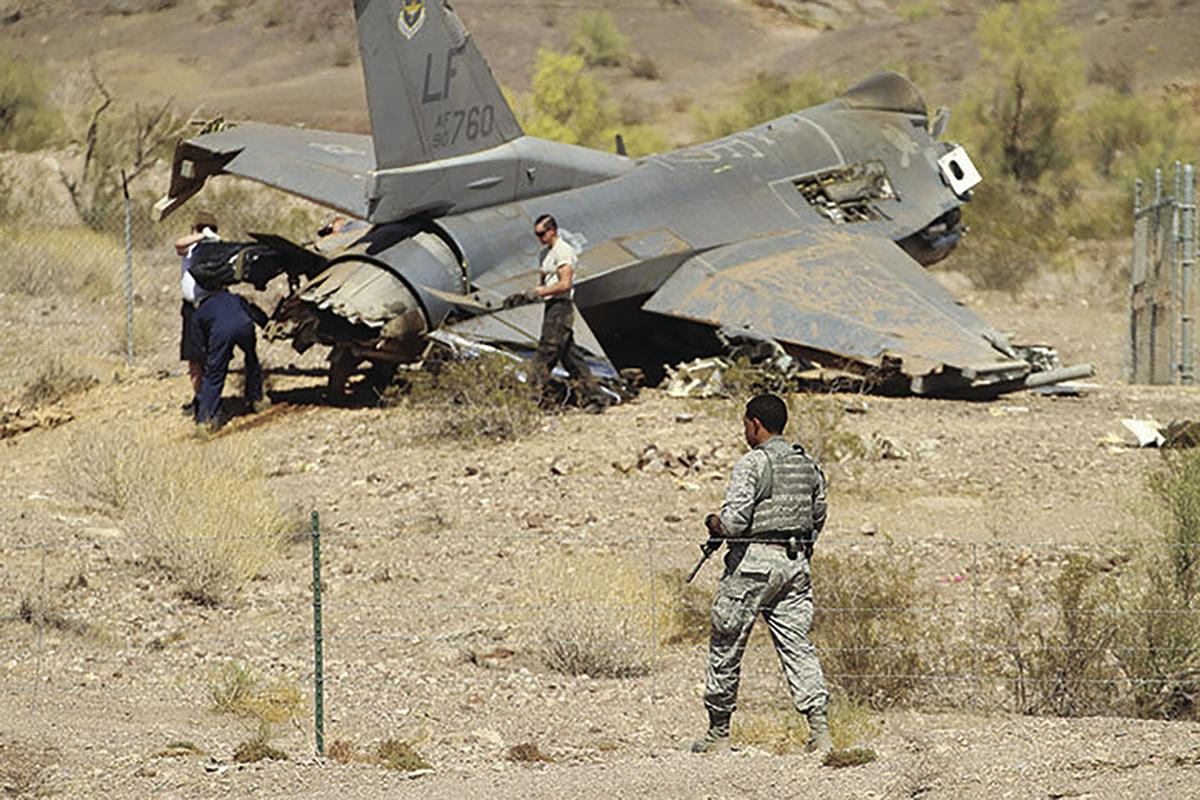 Downed F-16 fighter jet