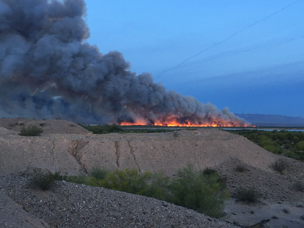Arizona mohave county topock - Topock Pirate Fire Now 40 Percent Contained