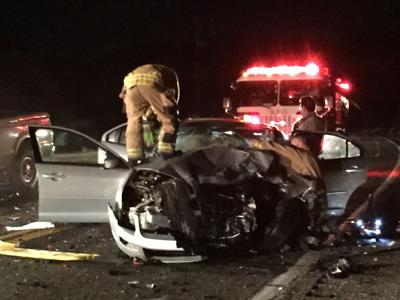Woman killed, man hospitalized in Highway 95 crash south of Lake