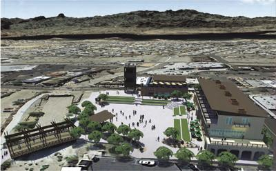 Rendering of the vision for the Downtown Catalyst Project