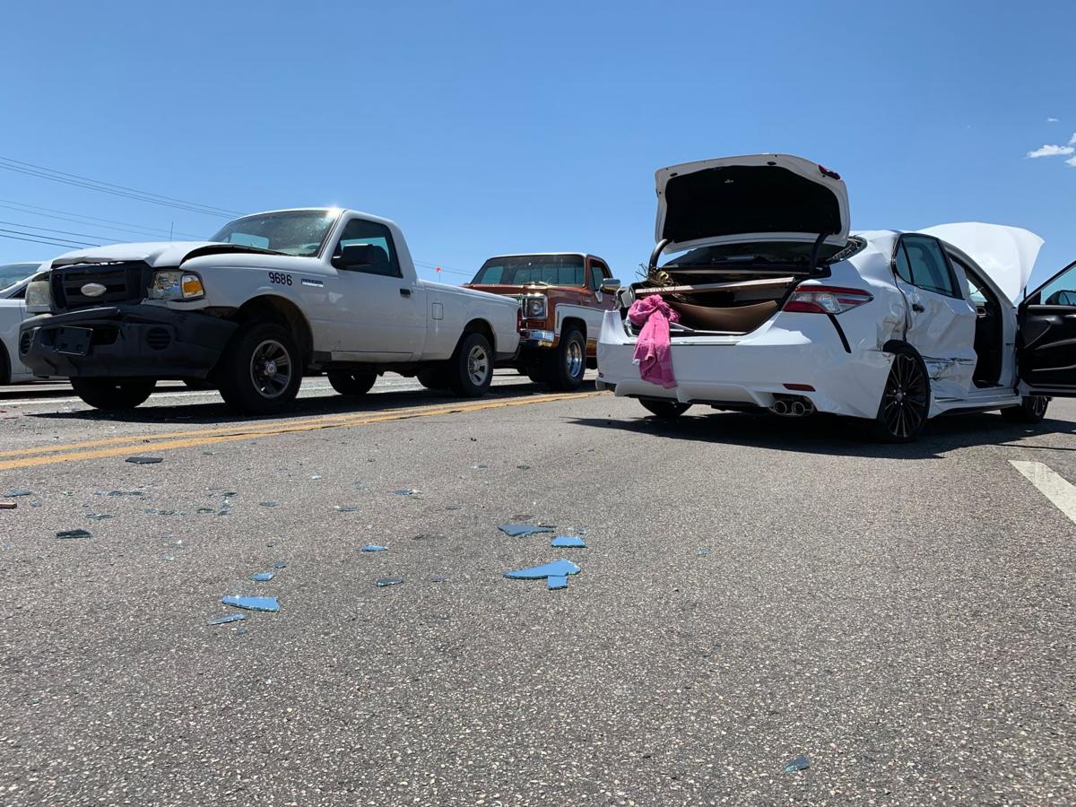 Four vehicles involved in accident at Acoma, Hwy 95 intersection