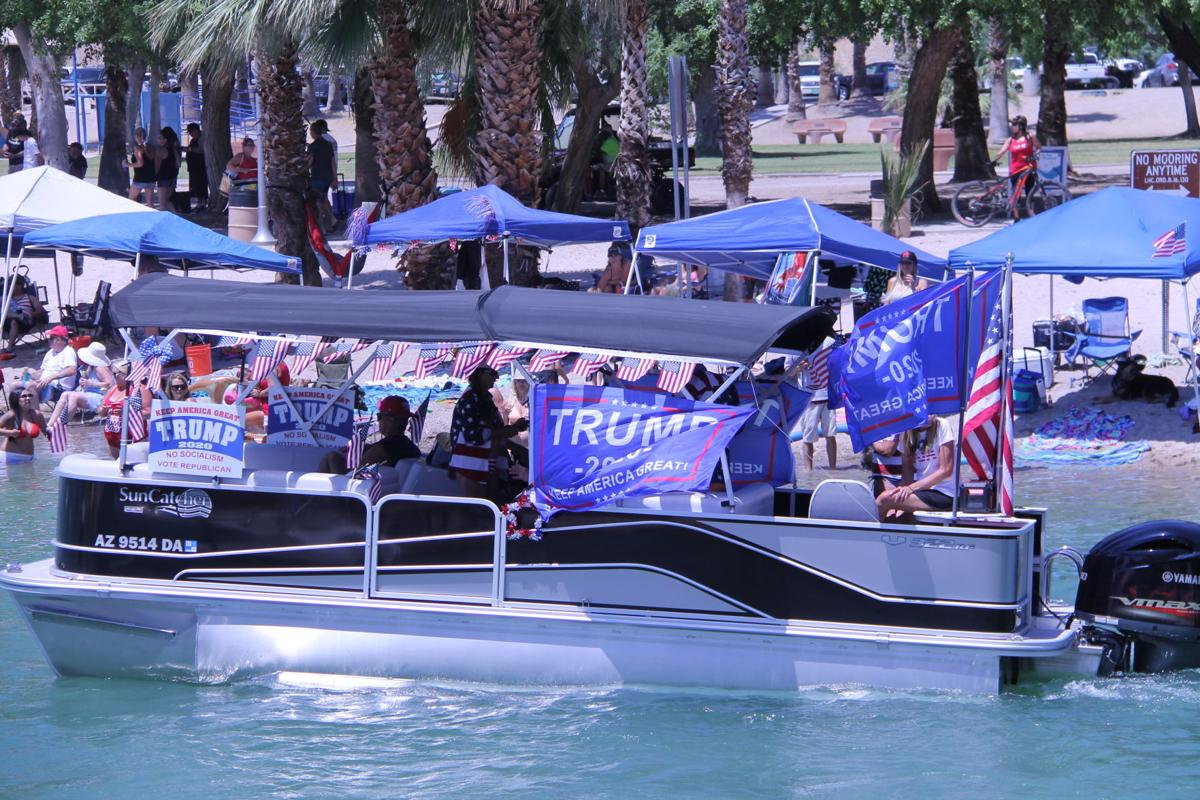 Girl with big ass on boat Thousands Participate In Pro Trump Boat Parade In Lake Havasu City Complimentary Havasunews Com