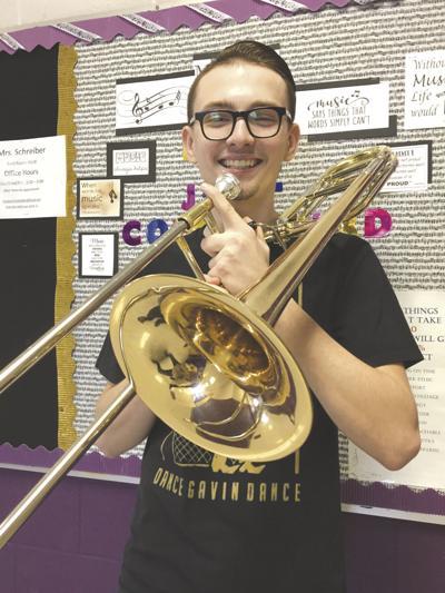 Senior trombonist Michael Thompson