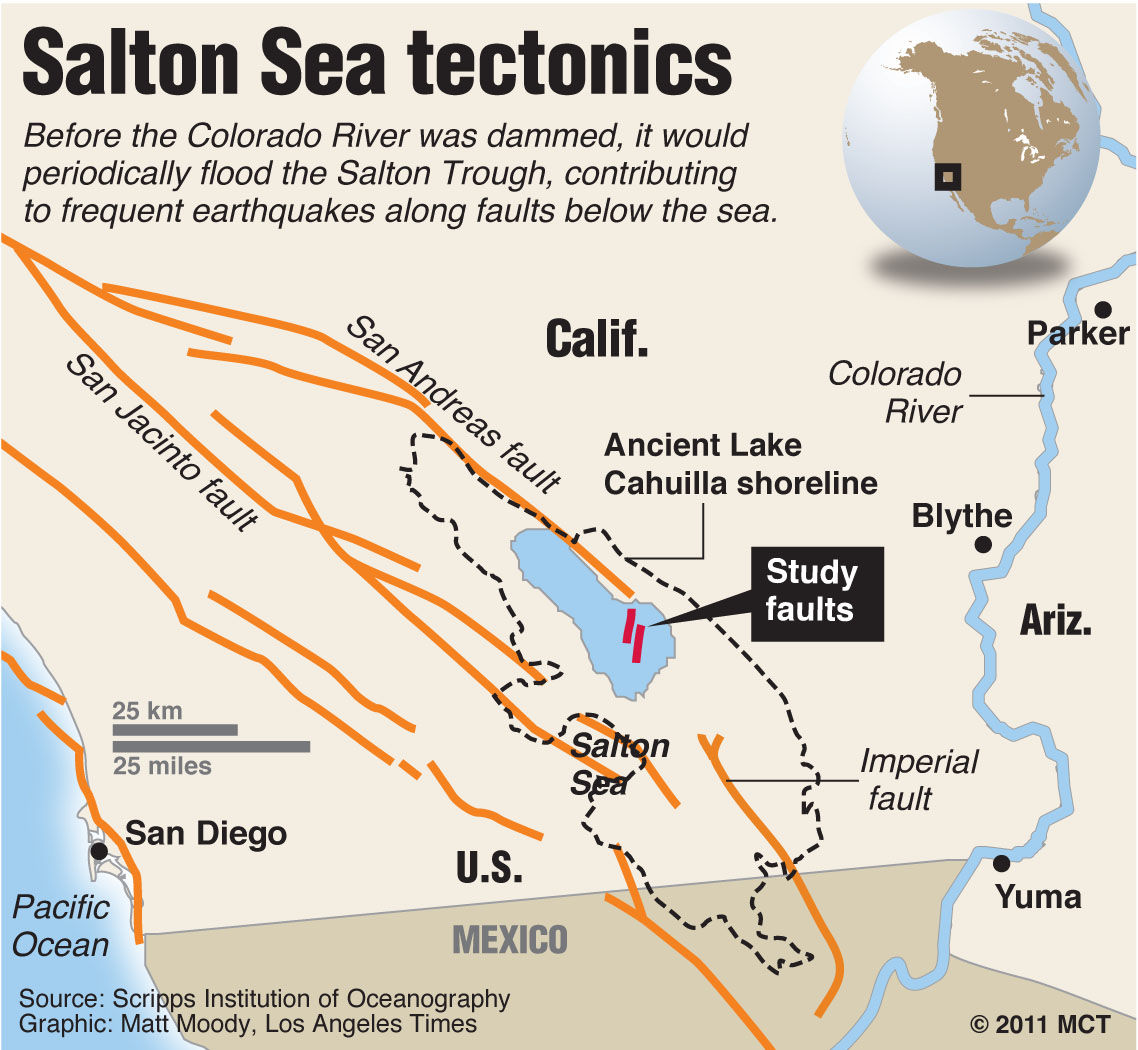 Authorities Warn Of Risk Of Major Earthquake In Southern - Salton sea on us map