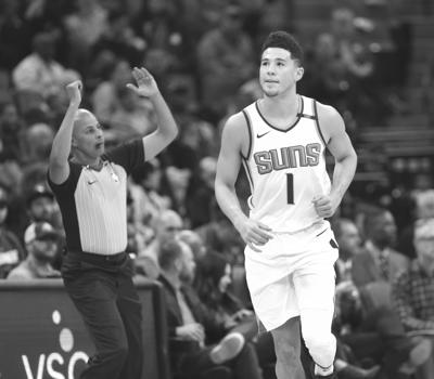 Suns Kings Basketball. Phoenix Suns guard Devin Booker ... 10f7f239d