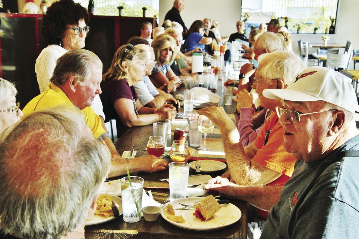 Gathering at Mudshark Brewery's new restaurant
