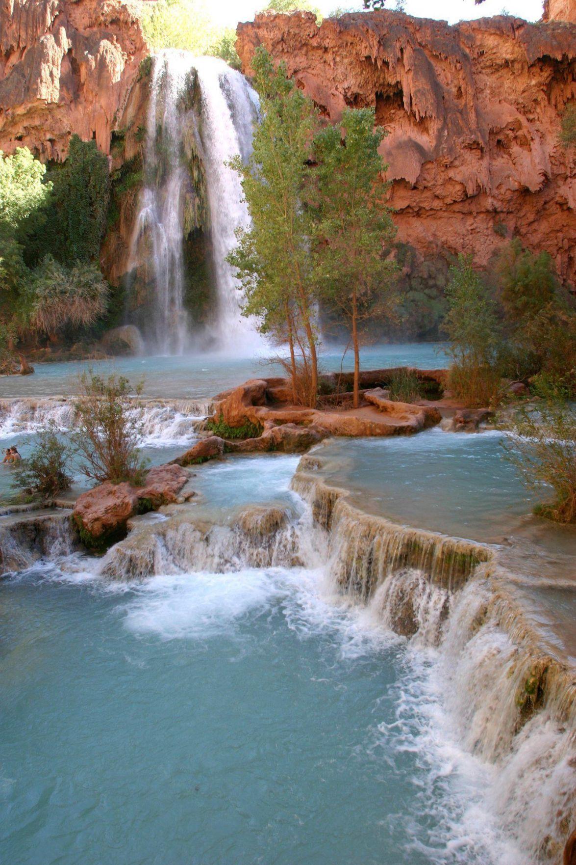 havasu falls: grand canyon trip features waterfalls, an indian