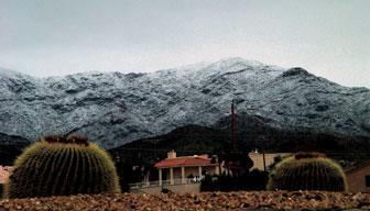 Havasu Freezes Over? Storms bring hail, snow, more than an inch of rain