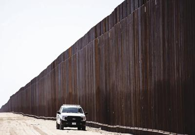 New section of border wall
