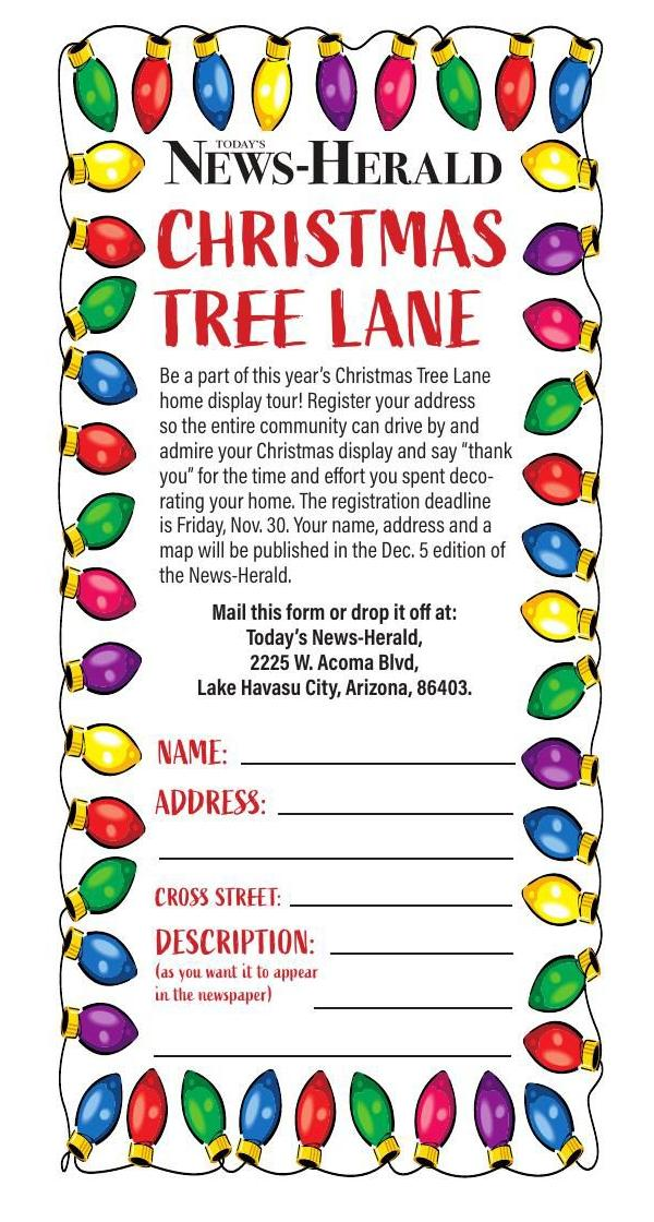 Enter your home in Havasu's Christmas Tree Lane