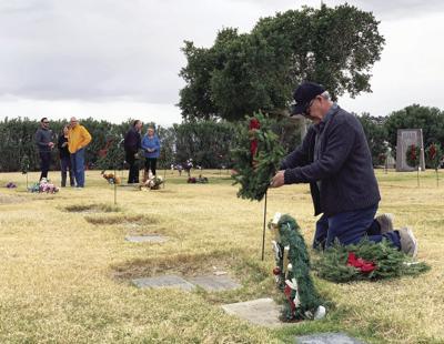 Wreaths for veteran gravestones